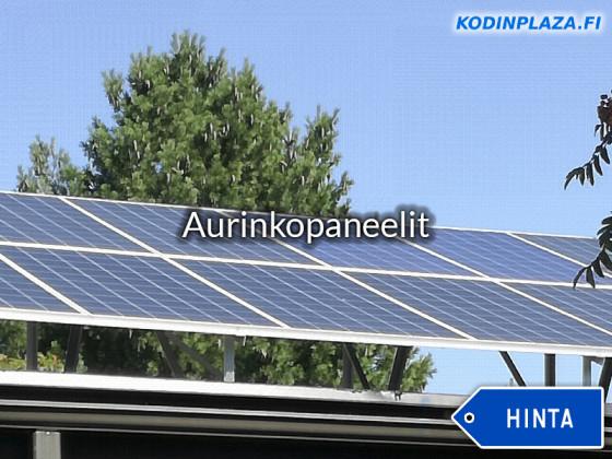 Aurinkopaneelit Hinta