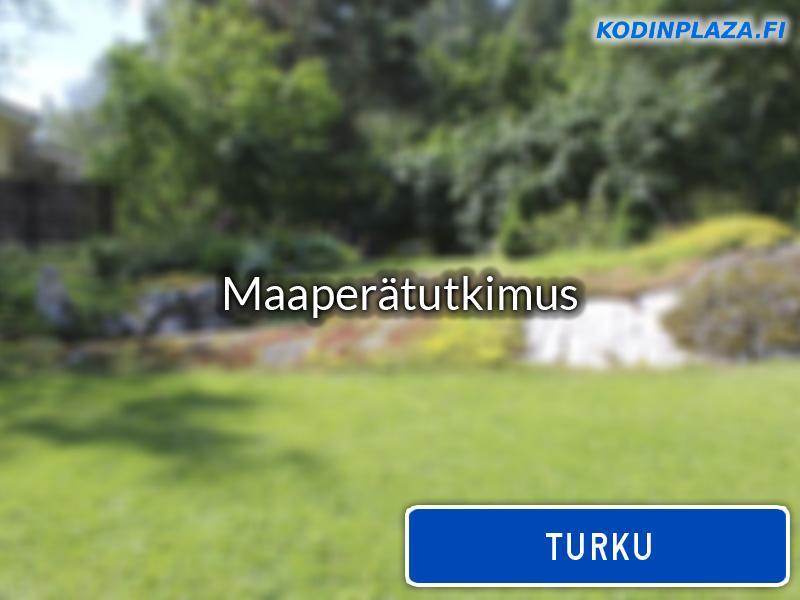 Maaperätutkimus Turku