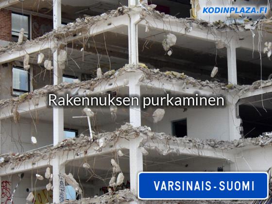 Rakennuksen purkaminen Varsinais-Suomi