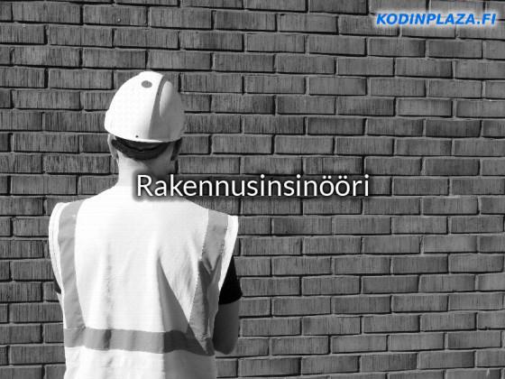 Rakennusinsinööri Työtehtävät